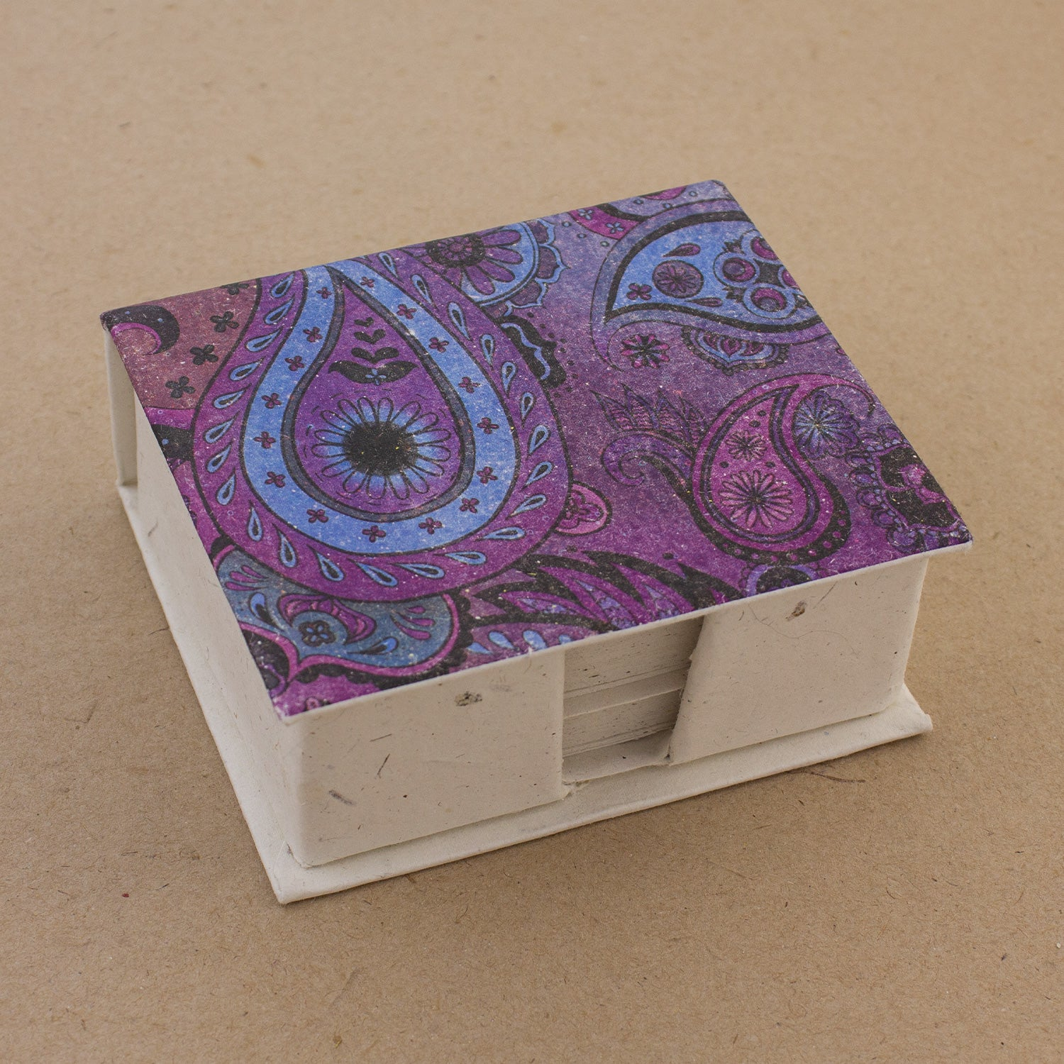 Note Box Paisley Purple