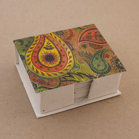 Note Box Paisley Yellow