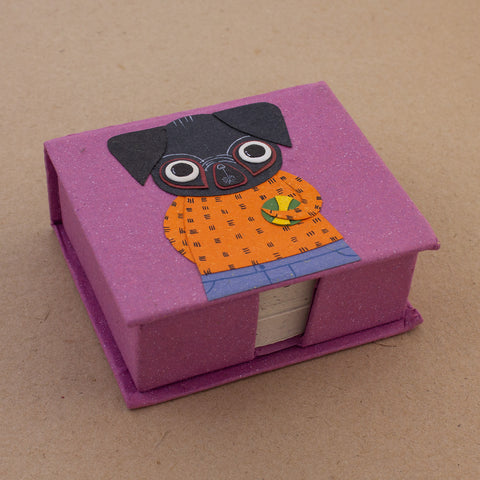 Note Box Pico the Pug Light Purple