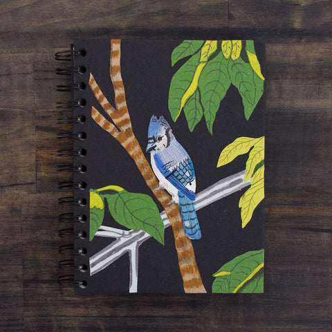 Large Notebook Blue Jay Black