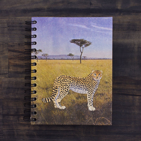 Large Notebook CCF Cheetah Daytime Embellished Print