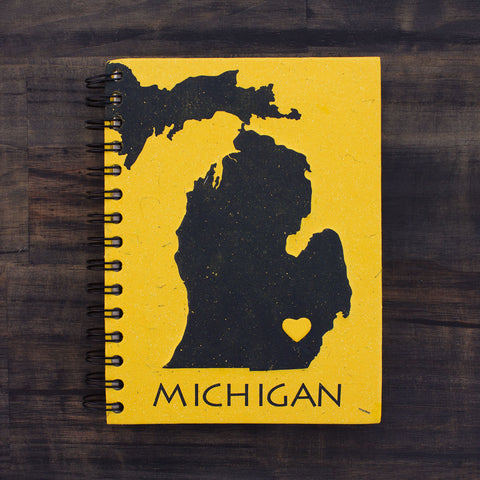 Large Notebook Michigan Blue and Gold