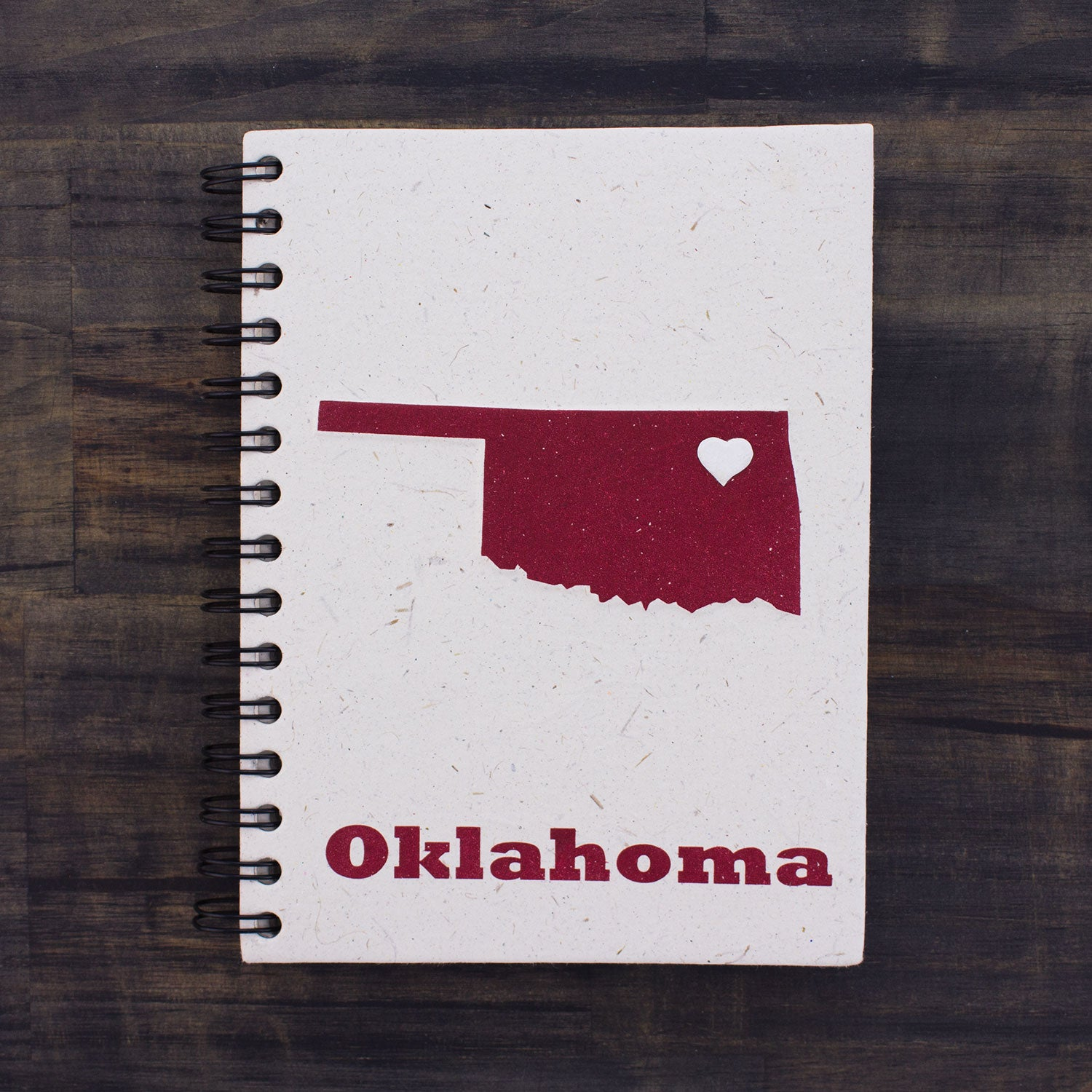Large Notebook Oklahoma State Natural White