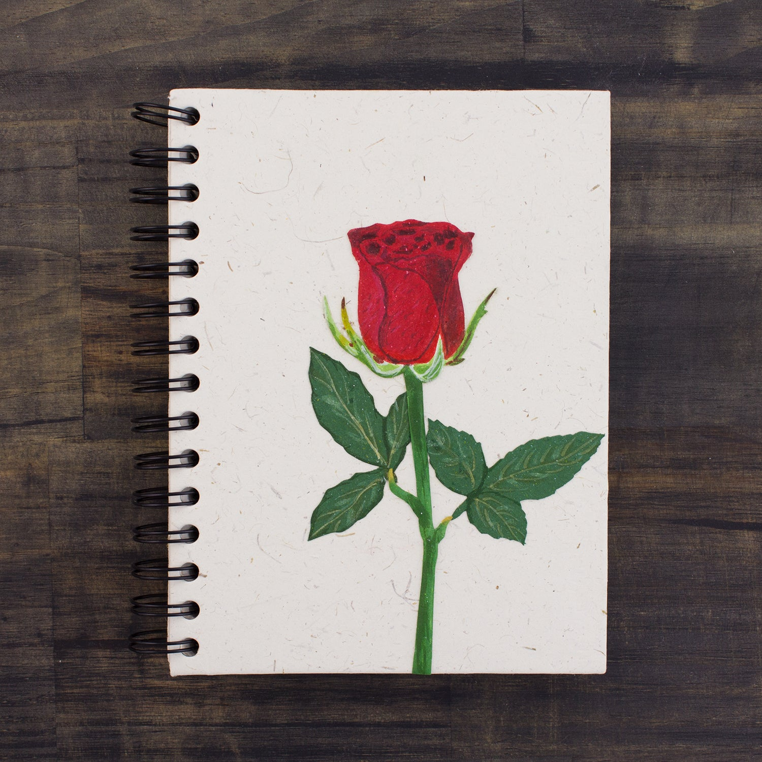 Large Notebook Rose Flower