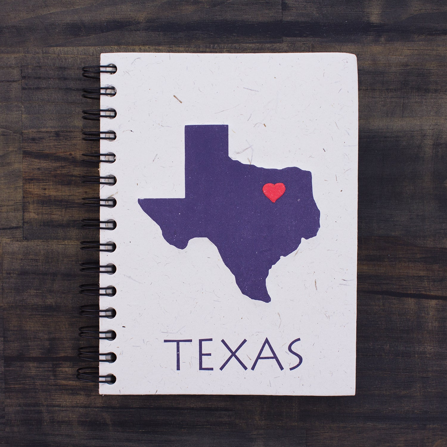 Large Notebook Texas State Natural White