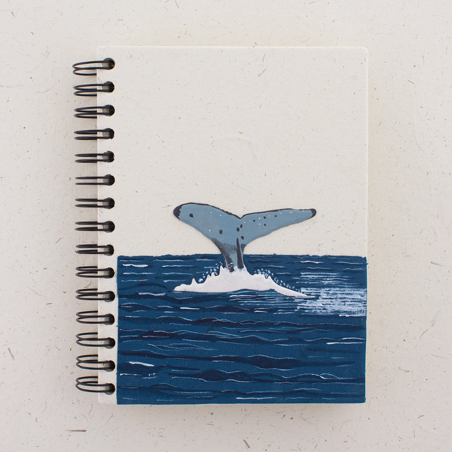 Large Notebook Whale Tail Natural White