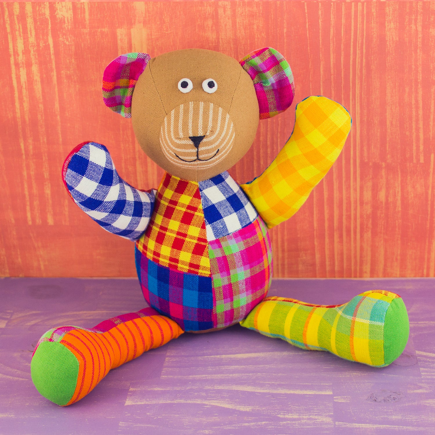 Patchwork Doll Bear Large