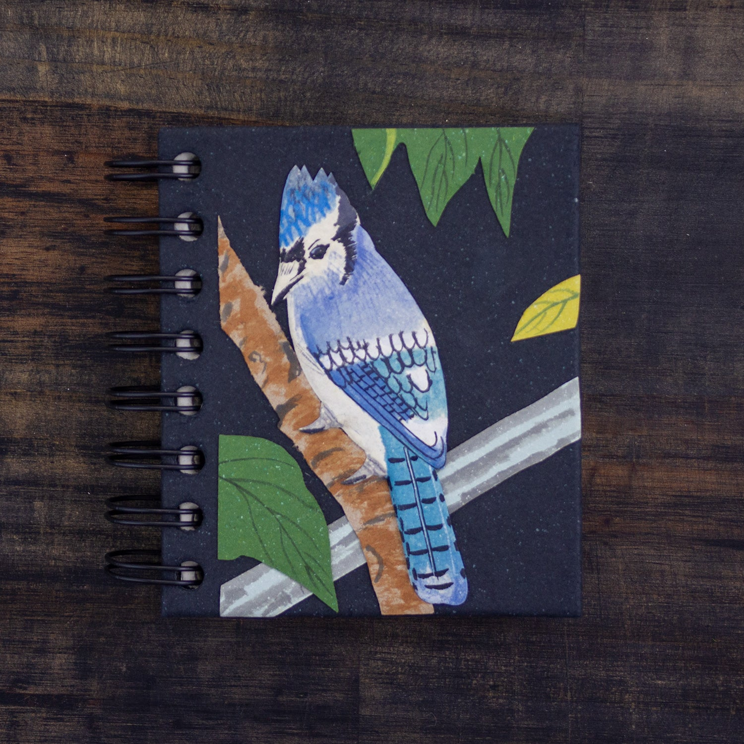 Small Notebook Blue Jay Black