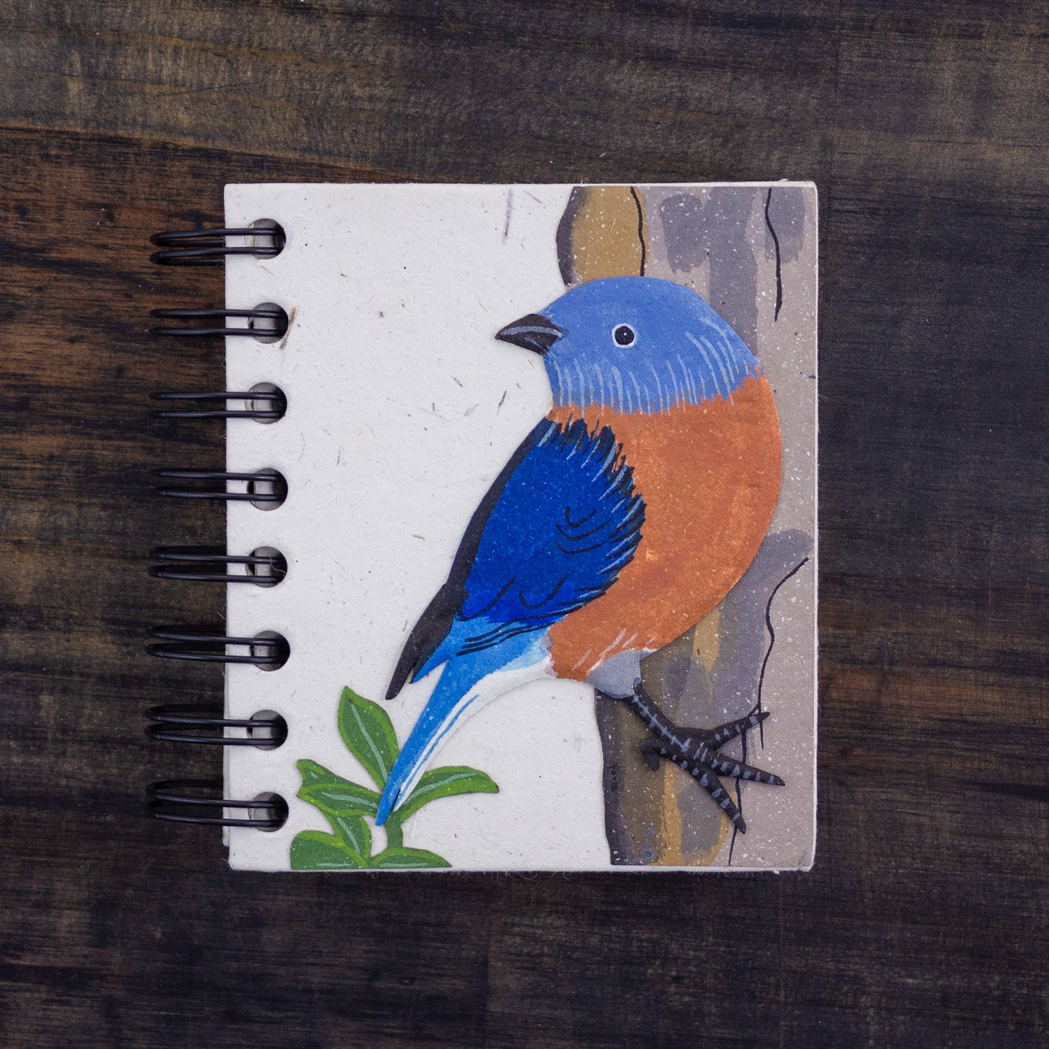 Small Notebook Bluebird Natural White