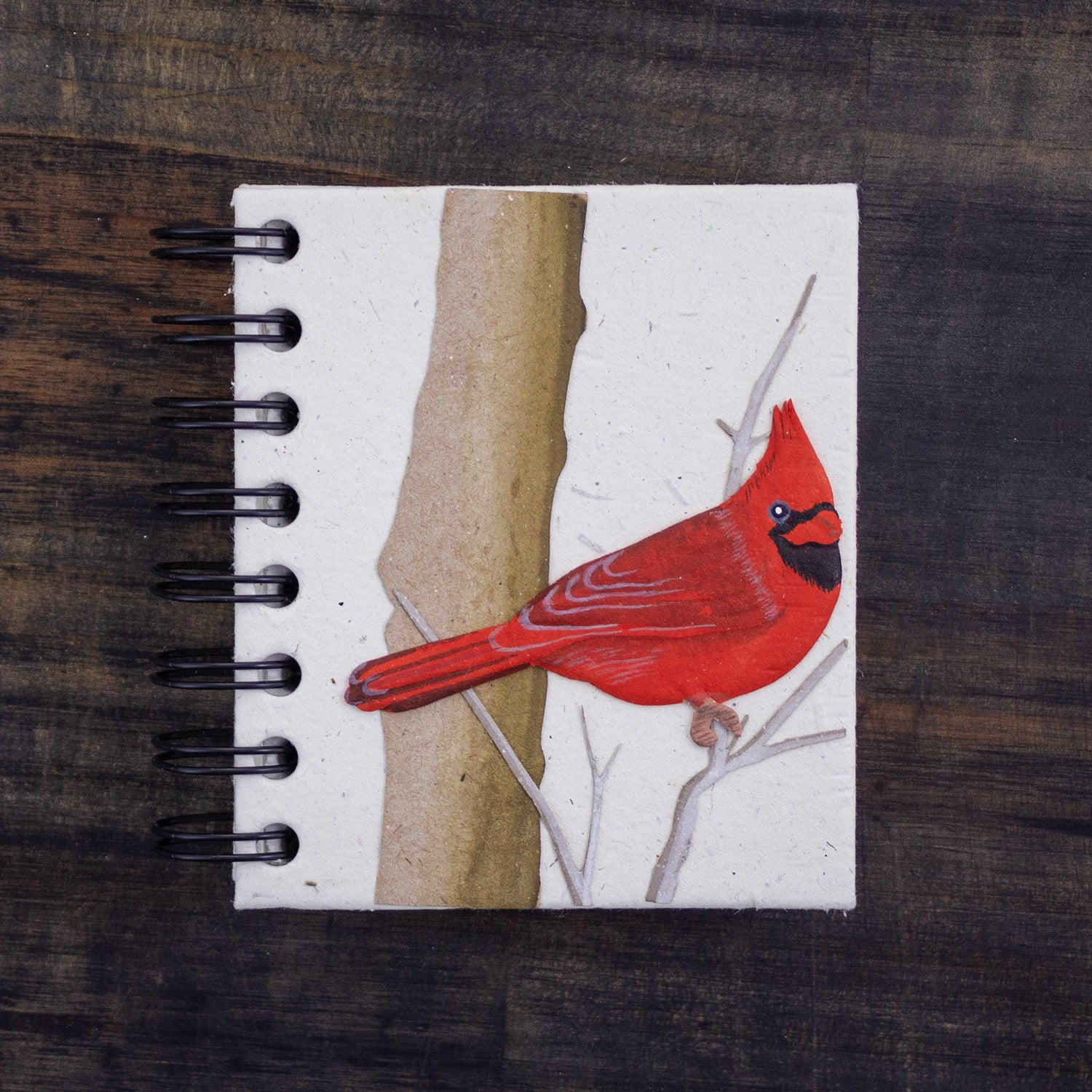 Small Notebook Cardinal Natural White