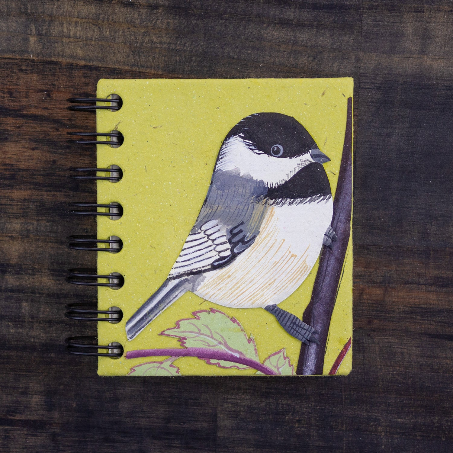 Small Notebook Chickadee Light Green