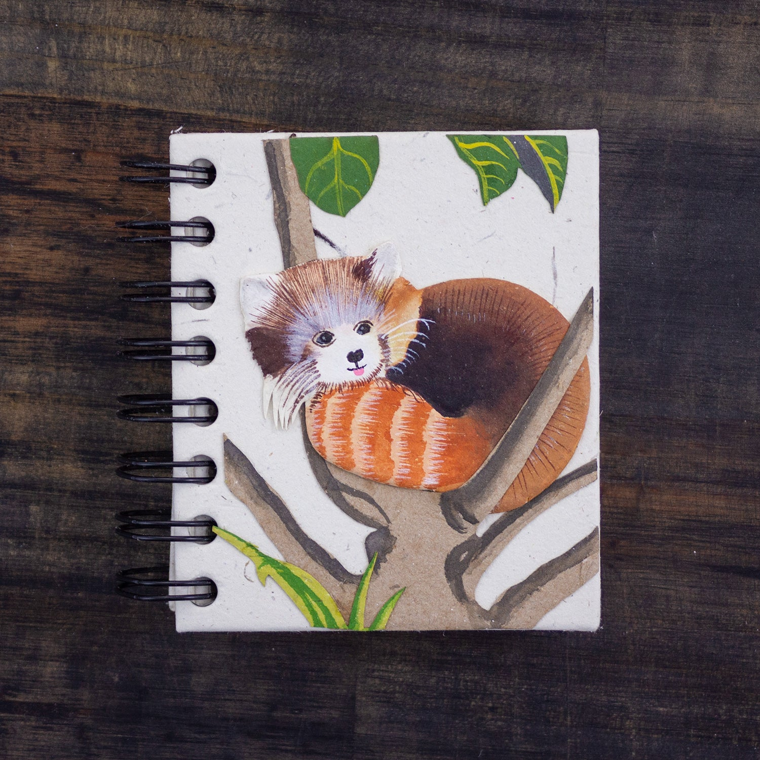 Small Notebook Red Panda Natural White