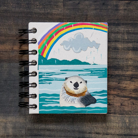 Small Notebook Sea Otter Natural White