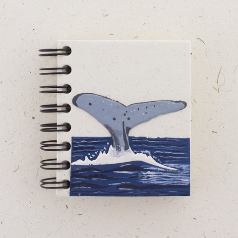 Small Notebook Whale Tail Natural White