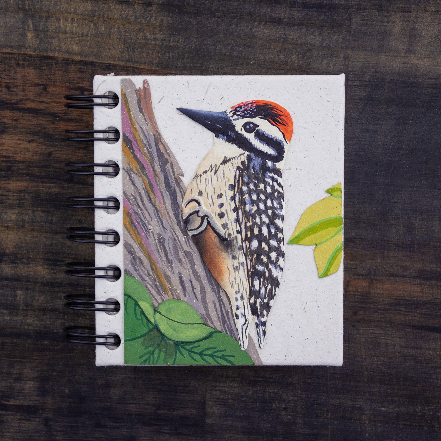Small Notebook Woodpecker Natural White