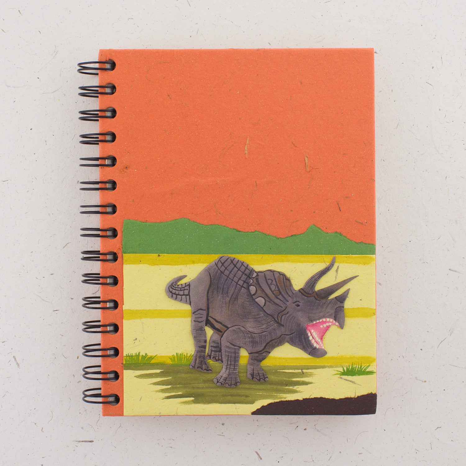 Large Notebook Triceratops Orange