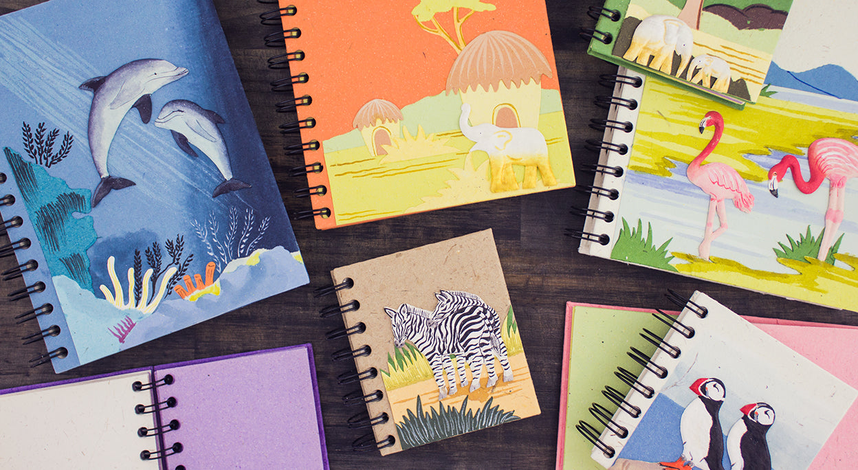 Eco-friendly notebooks and journals
