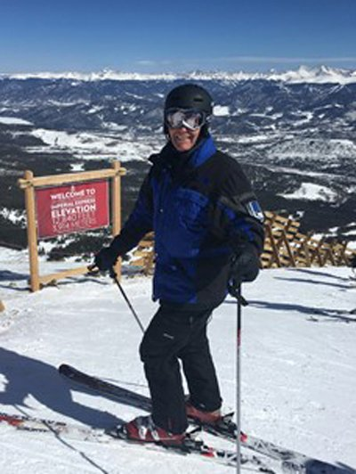 Tom skiing at Breckenridge Imperial Express
