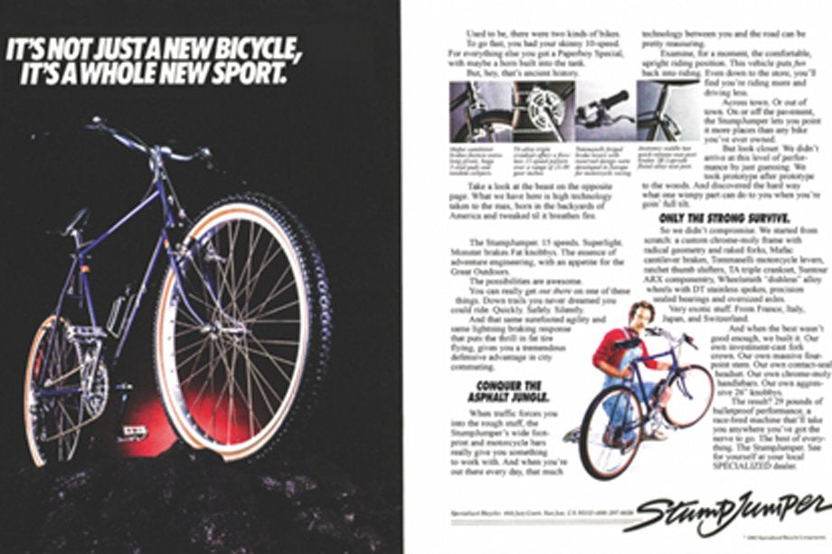 This Specialized Stumpjumper advertisement