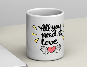 Taza - Mensaje / All you need is love