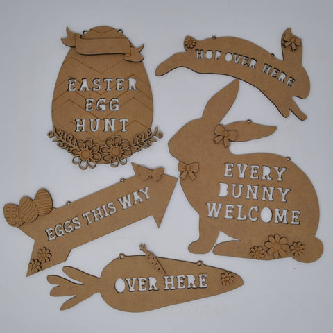 Easter Hunt Direction Signs