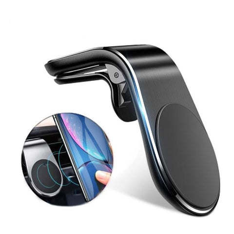 Magnetic Car Phone Holder With Air-Vent Clip