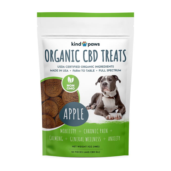 Organic CBD Dog Treats - Apple - kindpaws