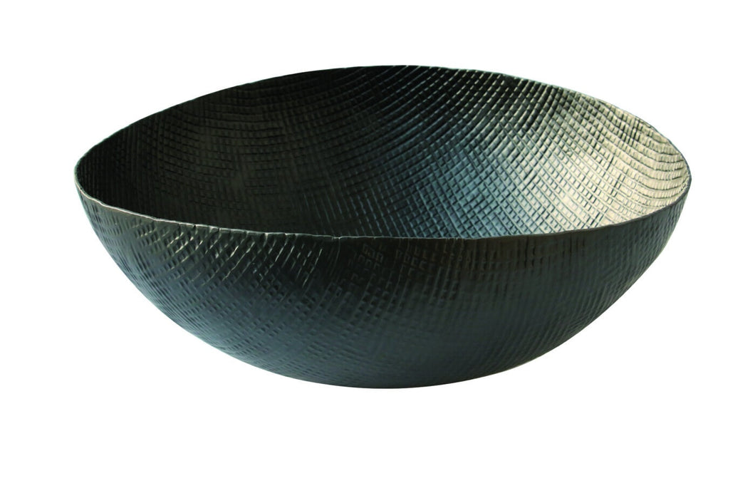 Extra Large Aluminum Crosshatch Bowl
