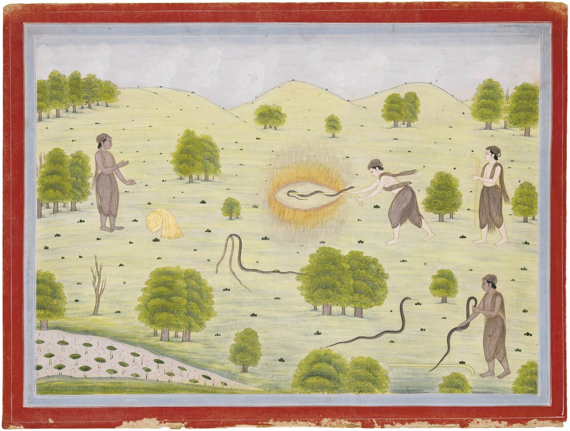 Illustration from the Nala-Damayanti: Snake Hunters
