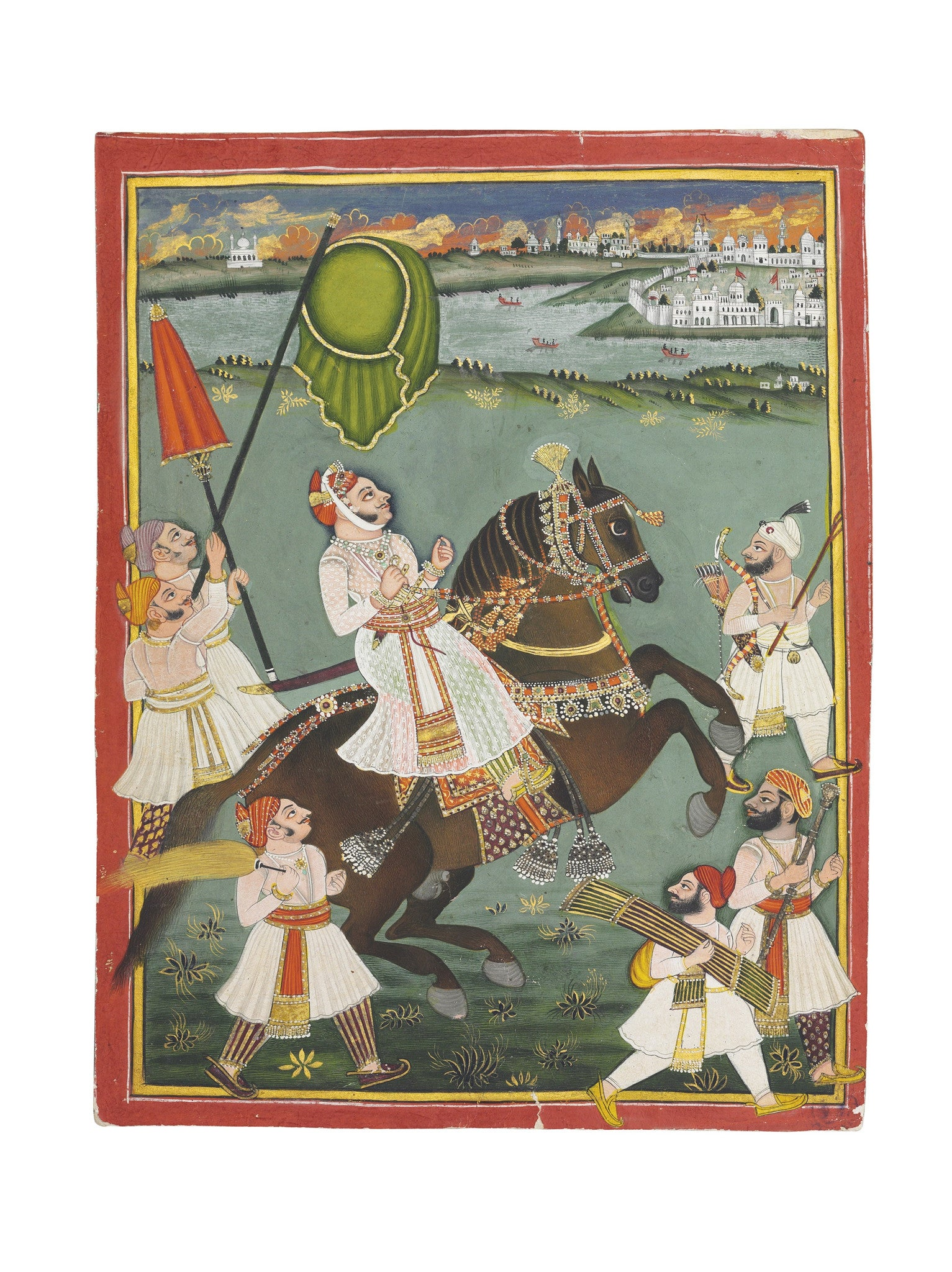 Equestrian Portrait of Madan Singh of Jala