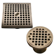 "Round & Square 2"" Threaded Grate - A-SQ-CH - Thunderbird Products"