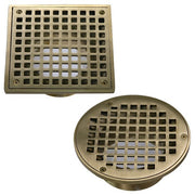 "Round & Square 3.5"" Threaded Grate - A-BD6-SQ-CH - Thunderbird Products"