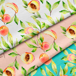 Pretty Peachy Repeat Pattern | Non Exclusive, personal, or commercial use - Kalaii Creations