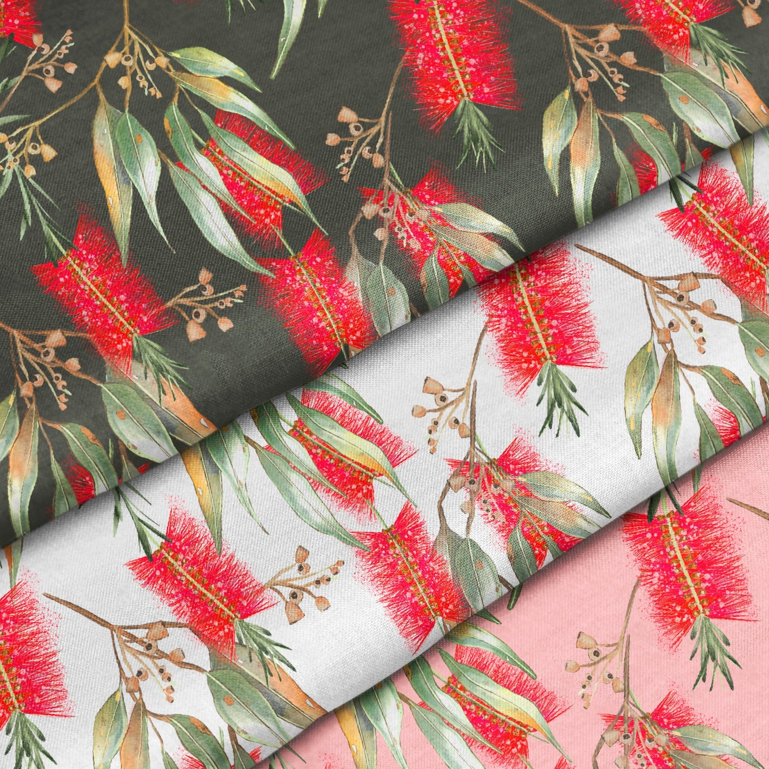 Red Wattle Repeat Pattern | Non Exclusive, personal, or commercial use - Kalaii Creations