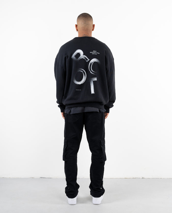 DRP.13 BLACK AGED SWEATER