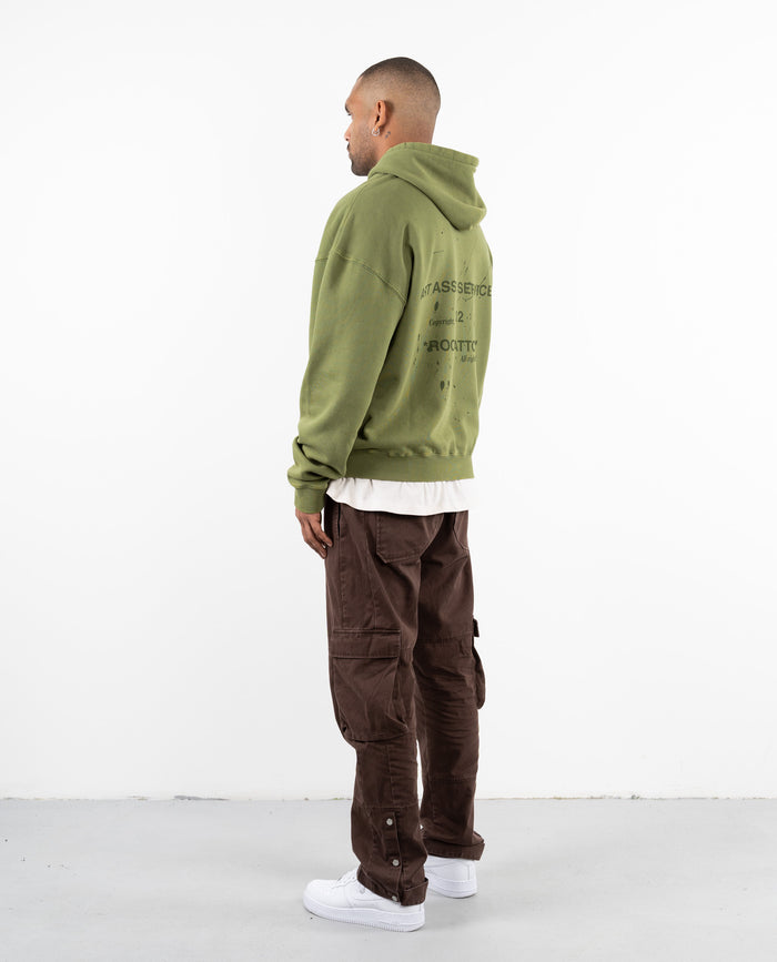 DRP.13 CRUDE GREEN ZIPPER