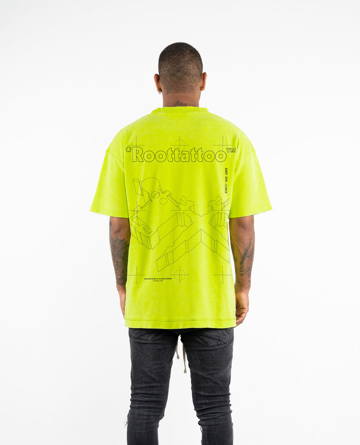 DRP.9 HEAVY LIME DISTRESSED TEE