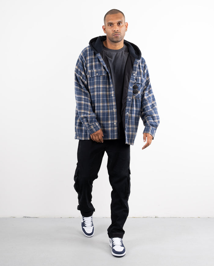 ALLUR HOODED FLANNEL