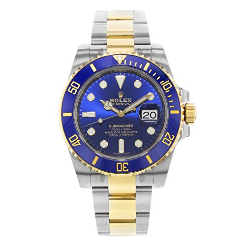 Rolex Submariner Steel 18K Yellow Gold Blue Dial 116613