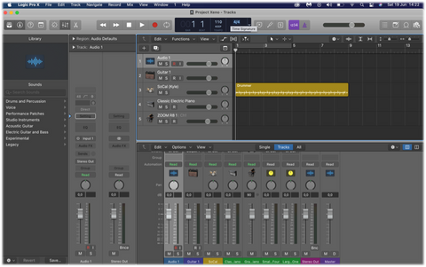 logic pro X music production live recording drums a-live loops