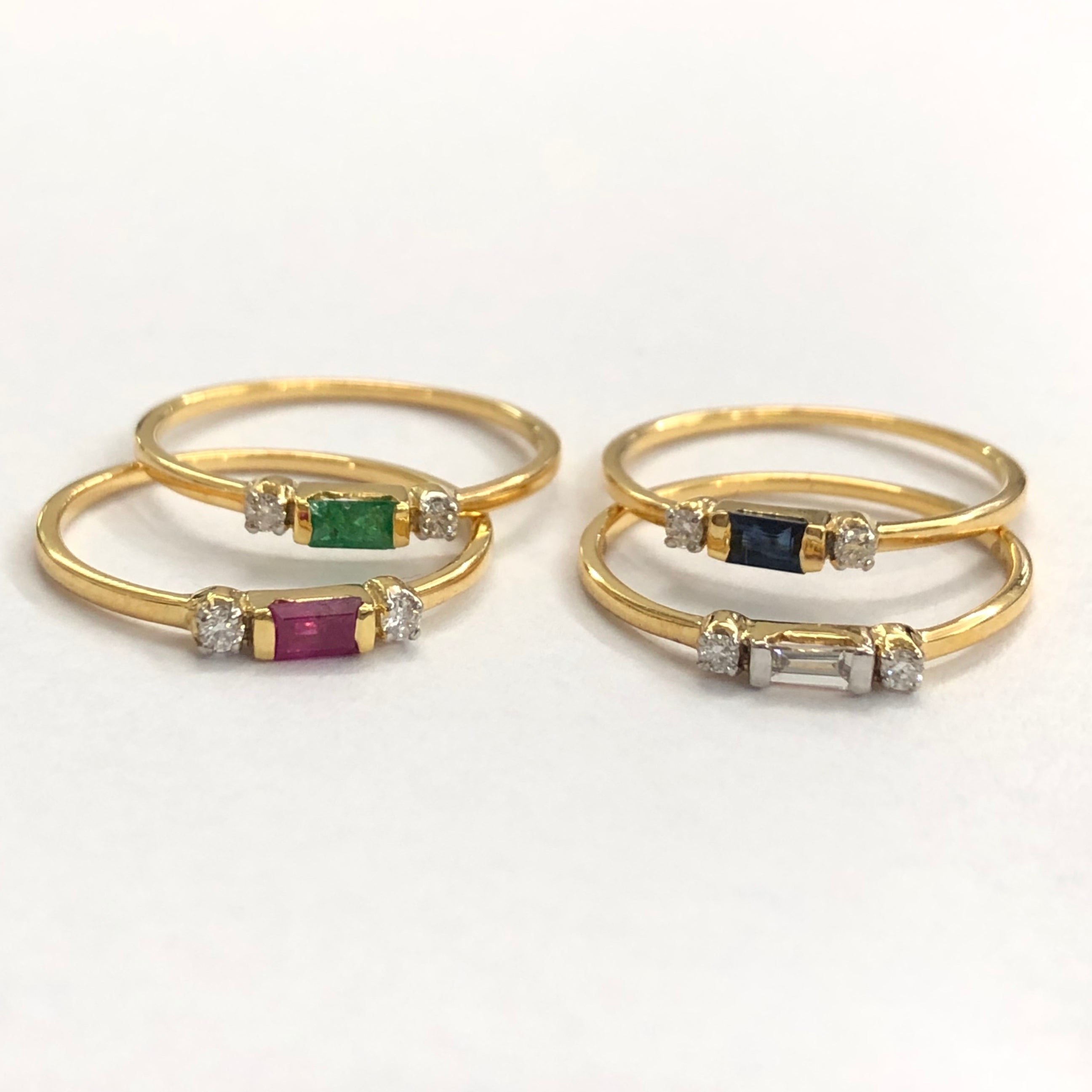 Multicoloured Stack Rings