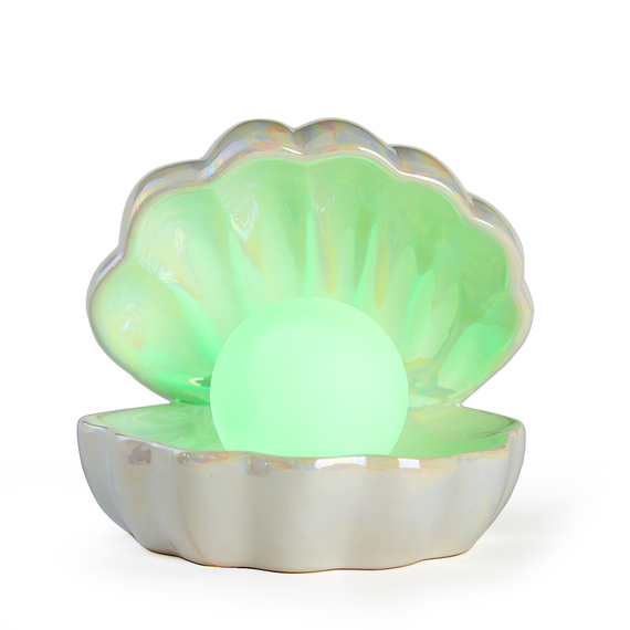 Your Zone Mermaid Shell with Color Changing Pearl Lamp