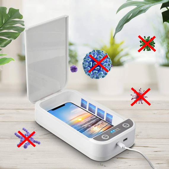 Cell Phone Cleaning Box, MECO Portable Smart Phone Cleaner Suitable for Large Phone, Watch, Jewelry, Mask, Toothbrushes and Small Toys