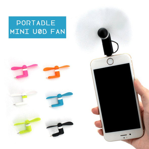 Plug in Phone Fan - Mini USB & iPhone options
