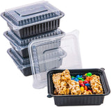 [CTC-8300] 1 Compartment Rectangular Meal Prep Container with Lids- 12oz (50/100/150 Pack)