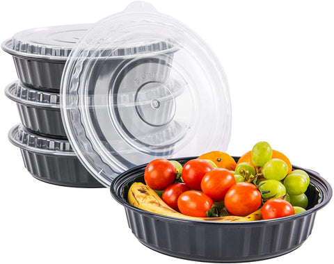[CTC-9999] Round Meal Prep Bowl Container with Lids - 48oz (50/100/150 Pack)