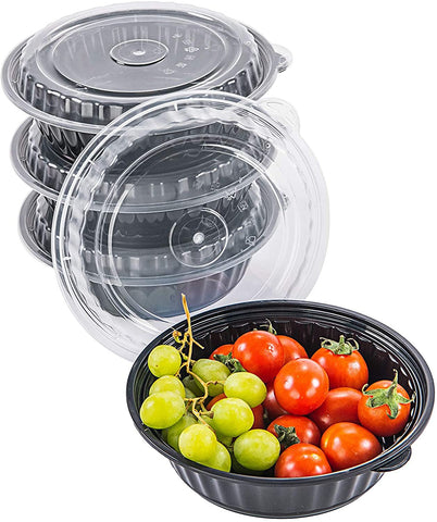 [CTC-8377] Round Meal Prep Bowl Container with Lids - 24oz (50/100/150 Pack)