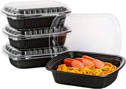 [CTC-SRIB08] 1 Compartment Rectangular Meal Prep Container with Lid - 28oz (100/150/200 Pack)