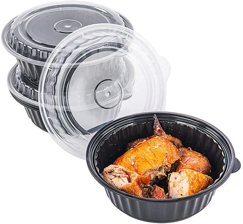 [CTC-8399] Round Meal Prep Bowl Container with Lids - 32oz (50/100/150 Pack)