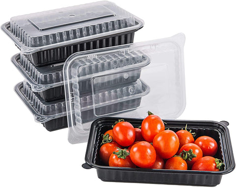 [CTC-8316] 1 Compartment Rectangular Meal Prep Container with Lids- 16oz (50/100/150 Pack)